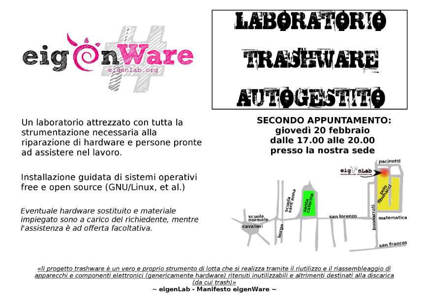 Laboratorio trashware, secondo appuntamento.